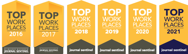 Top Work Places 2016-2021