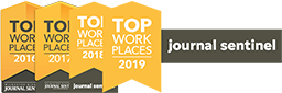 Top Work Places 2016, 2017, 2018, and 2019