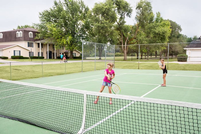 Enjoy outdoor activities at Oakton Beach including tennis, fishing and swimming