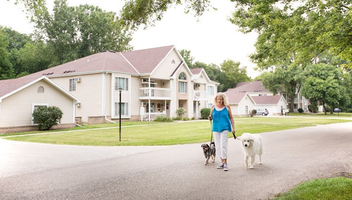 Pet friendly community on a 34-acre campus to enjoy