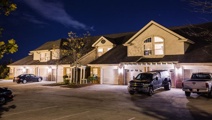 Condo-style private entries and attached 1-car garage