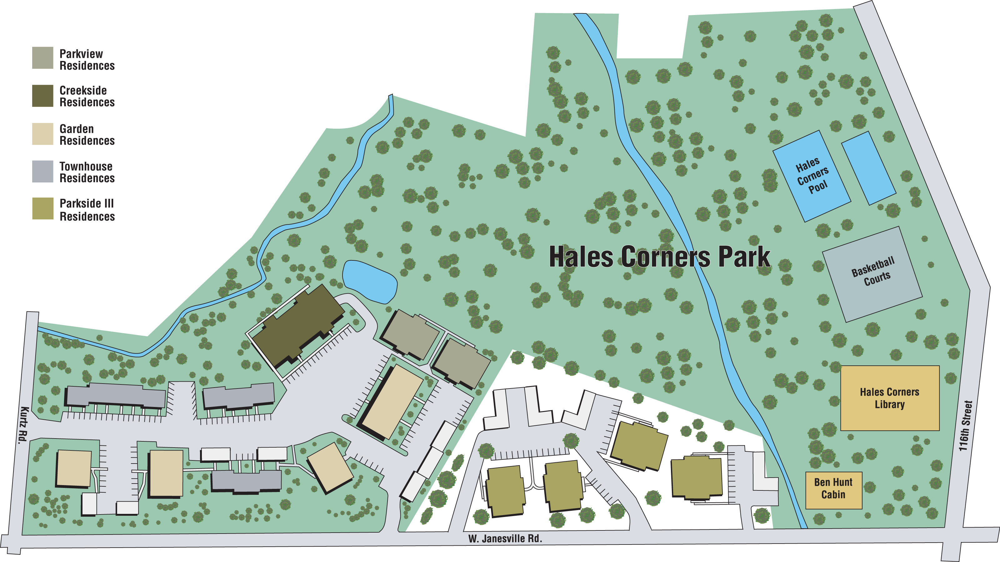 Parkside apartments hales corners wisconsin for Garden pool apartments west allis wi