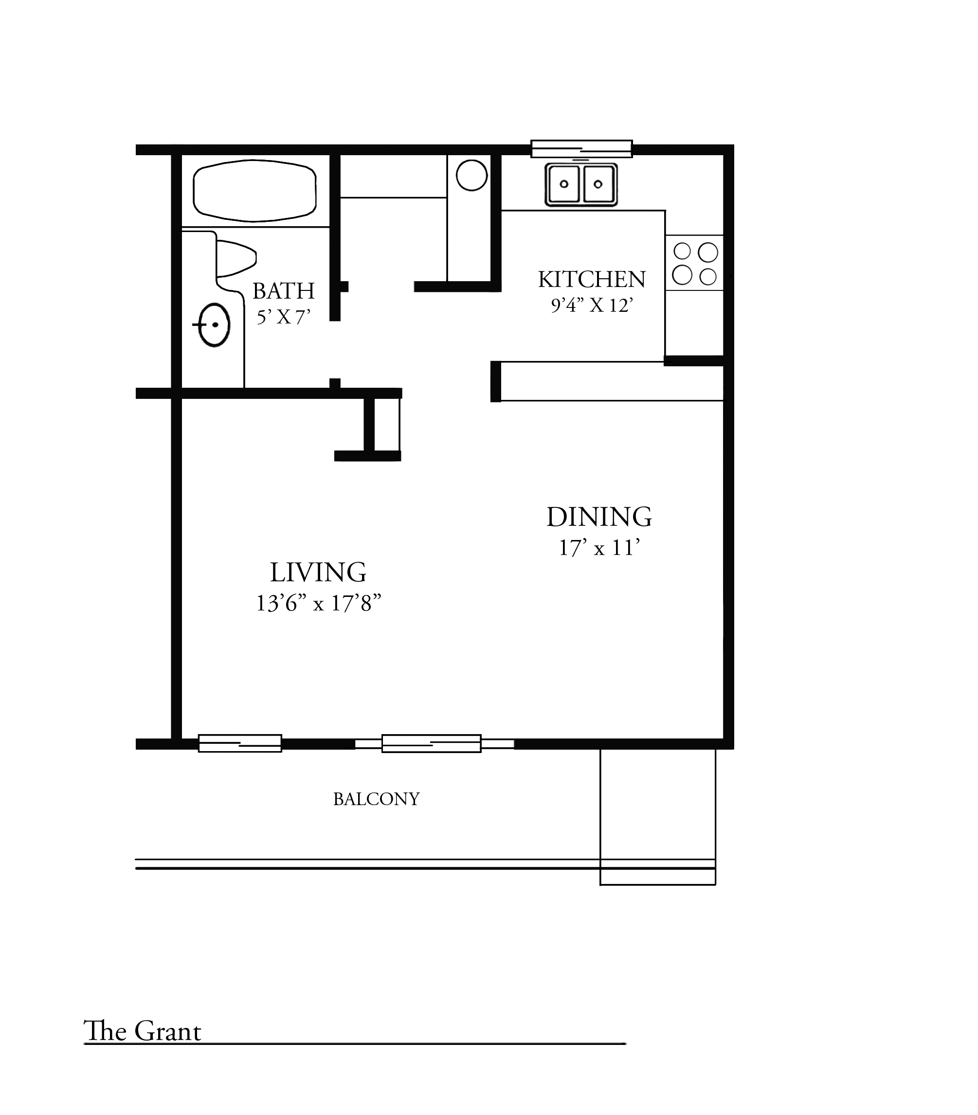 South 111th Street Studio - 453-469 Sq. Ft. - The Grant/S.111th St.