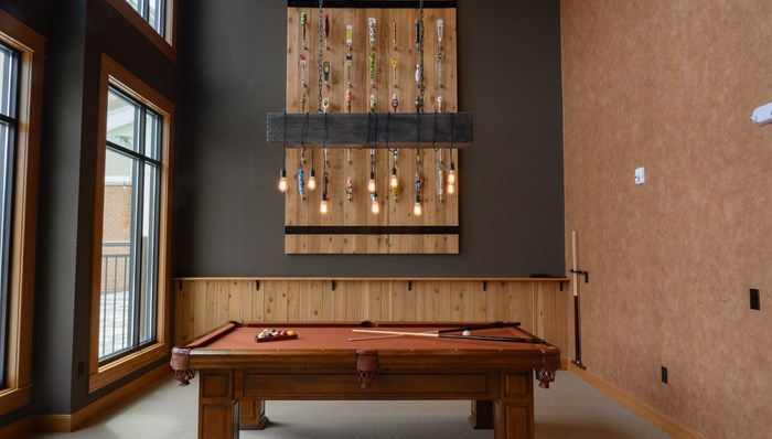 Billiards table to enjoy with friends and family
