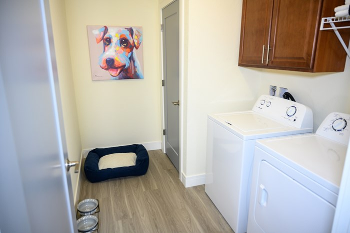 In home full-size washer and dryer