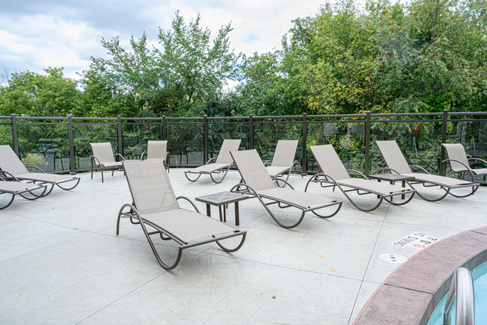 Soak up your Vitamin D on the lovely pool deck