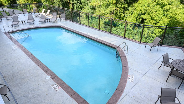 Unwind in the heated pool and sun deck