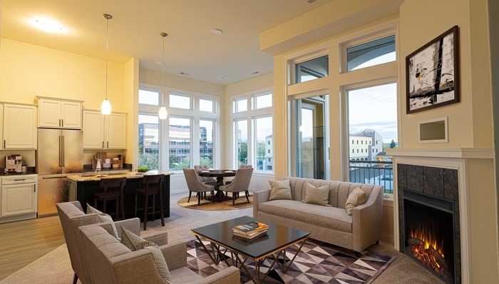 12' Ceilings and Expansive Windows make the 2 Bedroom Lx Floor Plan a Show Stopper!