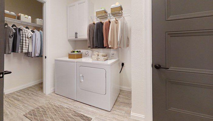 Options with Laundry Rooms that Include Full Size Washer and Dryer
