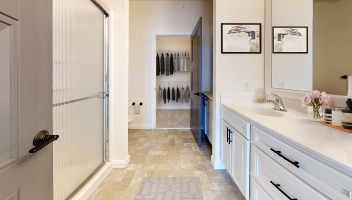Attached Master Baths with Walk In Closets